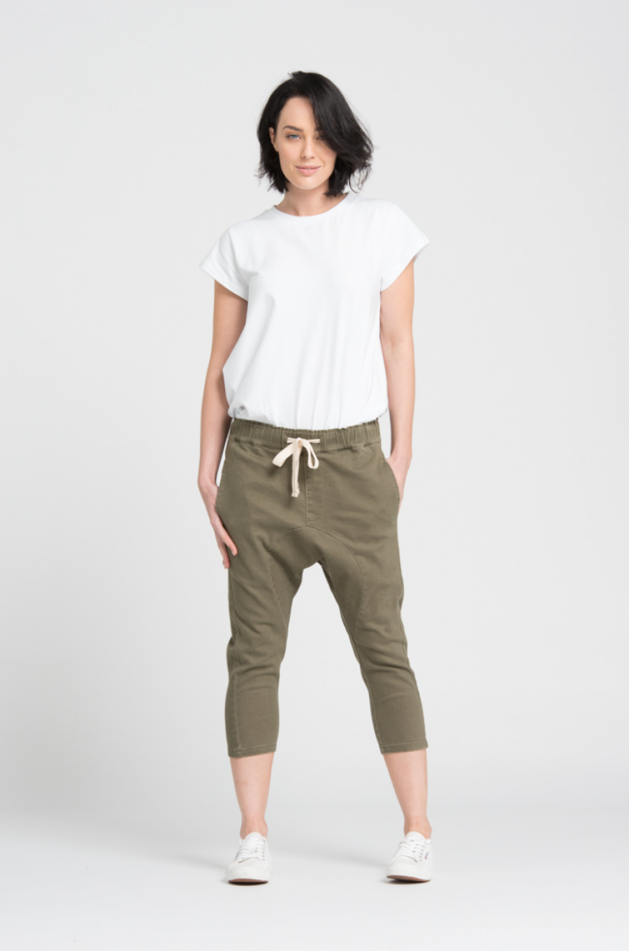 See Need Want Trend Alert Drop Crotch Pants Bohemian Traders Khaki
