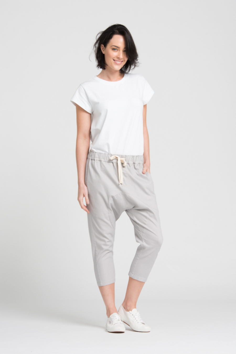 See Need Want Trend Alert Drop Crotch Pants Bohemian Traders Grey