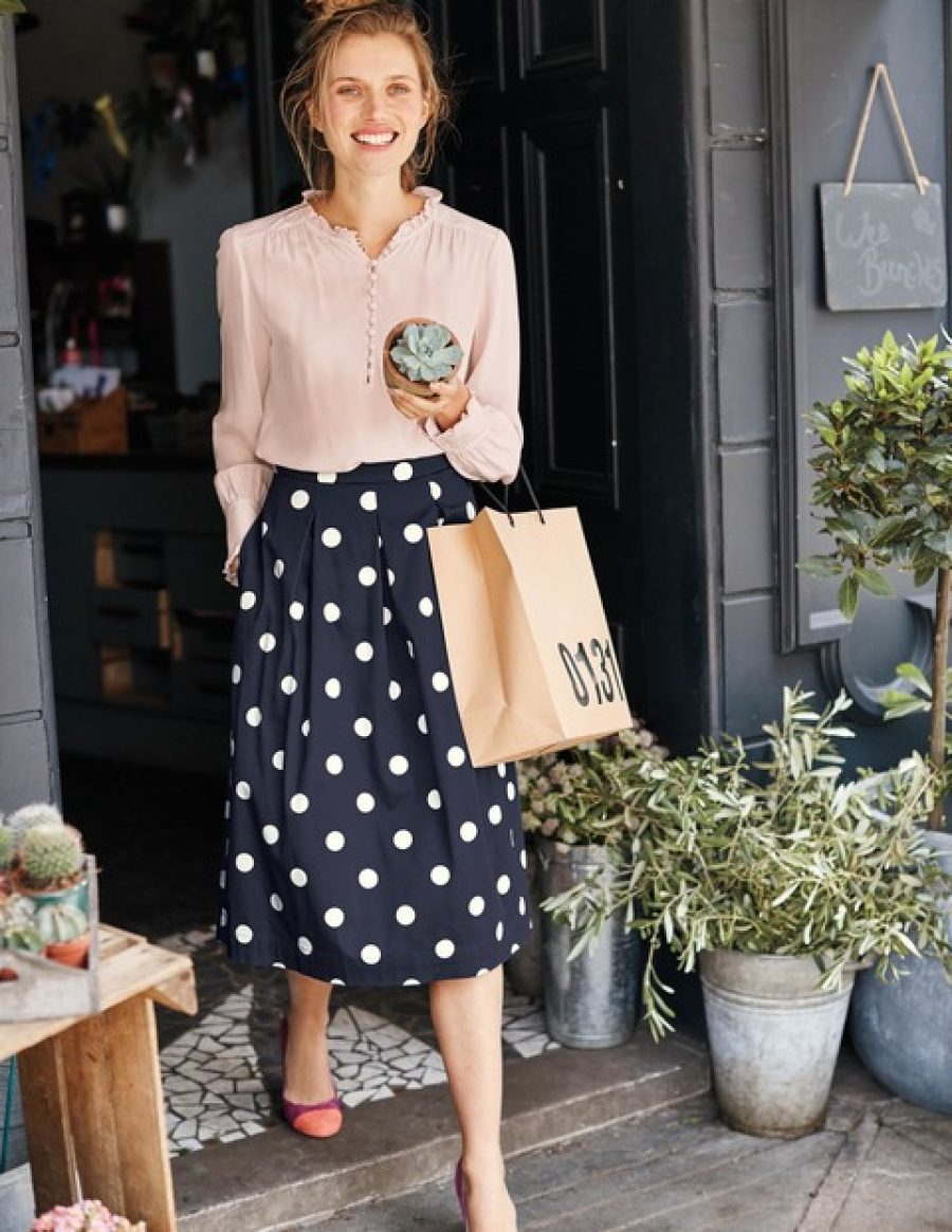 See Need Want Trend Polkadot Skirt Boden