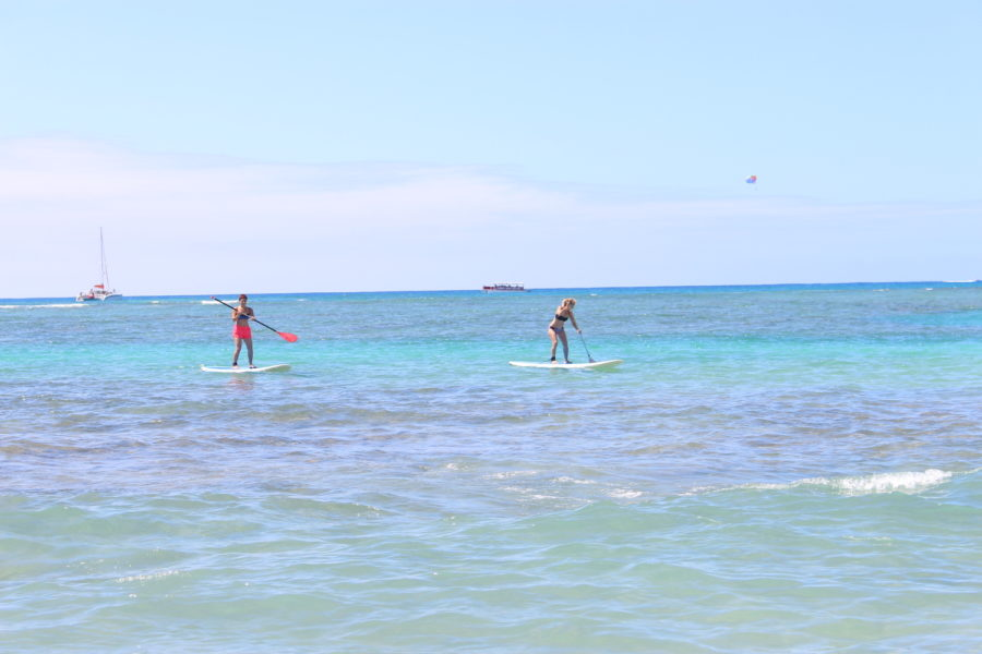 What To Do In Hawaii Travel Story Family Holiday Hit The Beach Paddleboarding