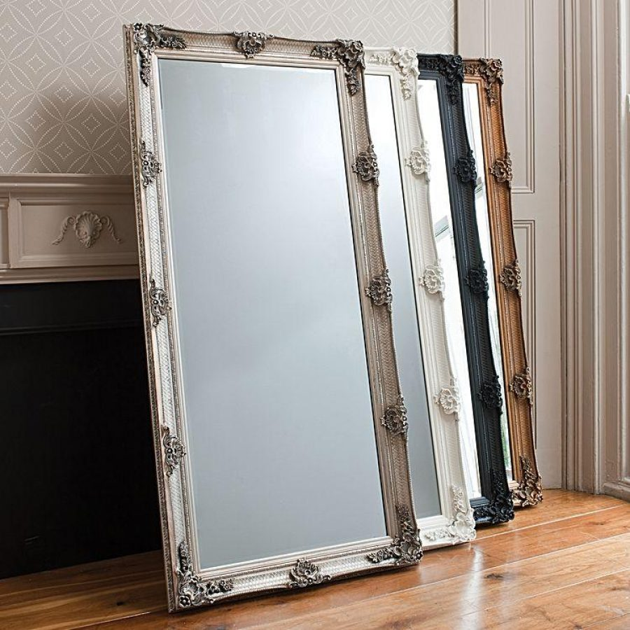 How To Instantly Make Your Home Look Bigger Large Leaning Mirror Artdeco Frame Zanui